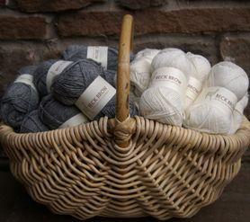 Alpaca wool in basket
