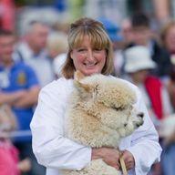 Barbara and Almo the alpaca